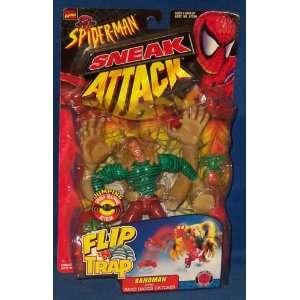 Spider Man Sneak Attack Flip N Trap Sandman Action Figure