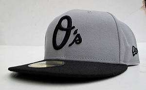 Baltimore Orioles Grey Black All Sz Cap Hat by New Era