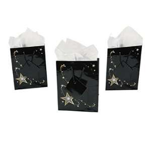 Small Gold Star Gift Bags   Party Favor & Goody Bags & Paper Goody