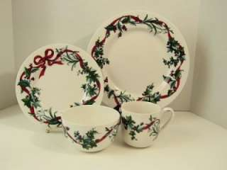 Martha Stewart Holiday Garden Chargers Plates Platters Red
