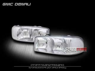 HEADLIGHTS HEADLAMP CLEAR CORNER 99 00 06 GMC YUKON/SIERRA/DENALI