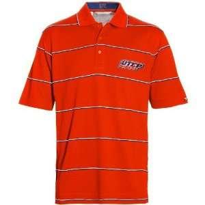NCAA Cutter & Buck UTEP Miners Orange Precedent Pique Polo