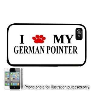 German Pointer Paw Love Dog Apple iPhone 4 4S Case Cover