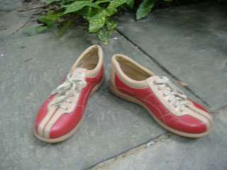 FIERY FRANCO SARTO Retro Red Leather Sneakers Shoes