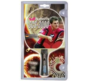 Butterfly SCS 3000 Carbon Shakehand Ping Pong Racket