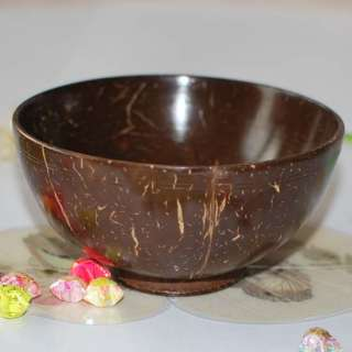 Natural Handcrafted Coconut Shell Round Bowl wi012 New
