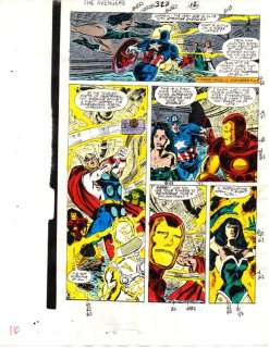 1990 AVENGERS IRON MAN/CAPTAIN AMERICA/THOR/SHE HULK MARVEL COLOR