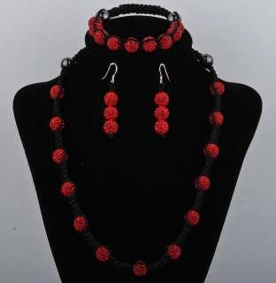 Shamballa Set Disco CZ Crystal shamballa Beads necklace&bracelet