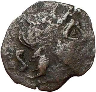 ROMAN REPUBLIC 211BC Semis ROMA & SHIP Ancient Coin PUNIC WAR Saturn