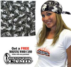 Urban Morning Wood Camo Bandana Sexy Female Silhouettes |