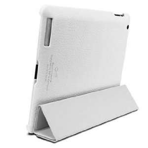 SGP iPad 2 Leather Case Griff Series [White] Cell Phones