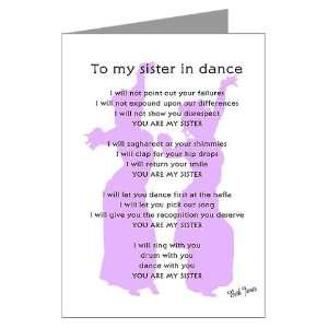 Bellydance Sister Poem Greeting Cards Package of Dance Greeting Cards