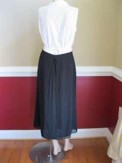 Crew Long Black Chiffon SZ 6 Semi Formal Dress