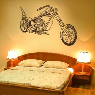 HARLEY BIKE MOTORBIKE MOTOR WALL ART STICKER DECAL giant stencil vinyl