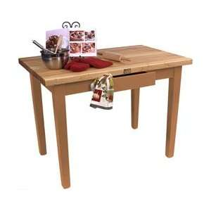 John Boos 48 Wide Classic Country Work Table, Natural