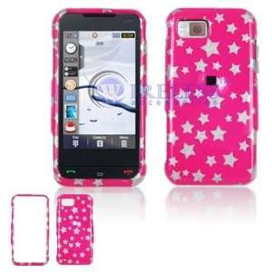 Samsung Eternity A867 Cell Phone Hot Pink/Silver Stars