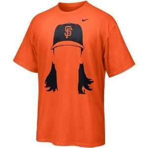 Lincecum San Francisco Giants Hair T Shirt (Orange)