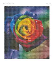 RAINBOW ROSE Cross Stitch Pattern   Colorful   LOOK