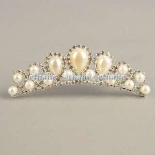 Crown Rhinestone Mini Bridal Hair Comb Pin Tiara EAFB5Y