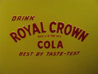 Vintage ROYAL CROWN COLA Soda Picnic Cooler 1940s.   RC Pop Restored