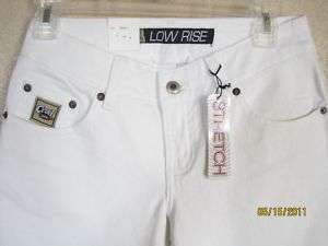 CRUEL GIRL CAPRIS White Low Rise Slim fit JEANS NWT