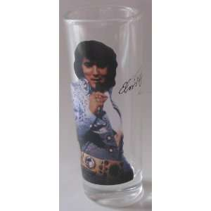 Elvis Presley Tall Shooter Glass 2 Oz. White Jacket Gold