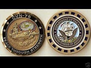 USS Ronald Reagan CVN 76 Navy Challenge Coin M   Sv2