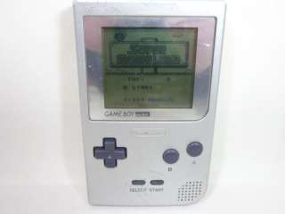 Nintendo Game Boy Pocket Console System Silver MGB 001 02178