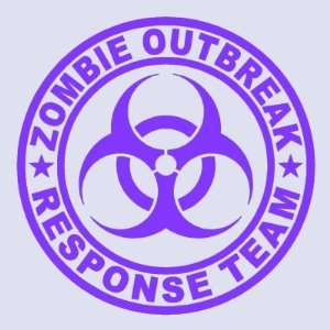 Zombie Outbreak Response Team PURPLE 5 Die Cut Vinyl