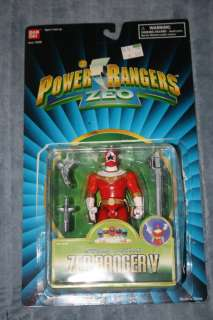 Rangers Zeo Gold, Red V, Green IV, and Blue III Zeo Rangers with boxes