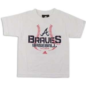 Atlanta Braves White Youth Swift Sweep T Shirt  Sports