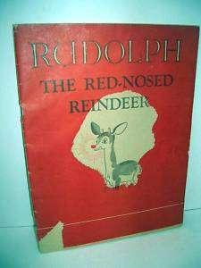 Rudolph Red Nosed Reindeer 1939 Mongomery Ward paper |