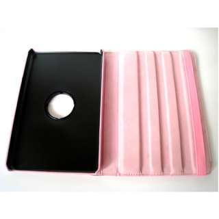 NEW KINDLE FIRE PU LEATHER 360 ROTATE HARD CASE COVER STAND PINK