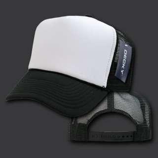 New BLACK & WHITE TRUCKER Style Foam Mesh CAP HAT
