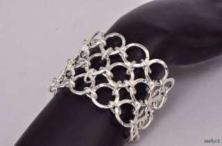 New $730 ROBERT LEE MORRIS 3 Row Link Cuff Bracelet