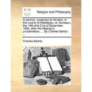 ,  By Charles Barton,  (9781170901205): Charles Barton: Books