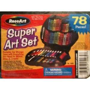 Rose Art Super Art Set 78 Pieces: Toys & Games