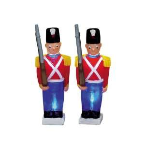Lemax Christmas Village Set of 2 Lighted Toy Soldier