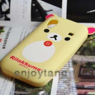 Cute Rila Bear soft Cover Case Samsung Galaxy Ace S5830