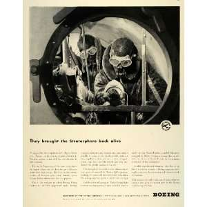 1942 Ad Boeing Flying Fortress Stratosphere WWII Planes Aviation War