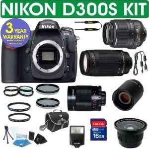 Nikon D300S (IMPORT) Digital Camera + Nikon 18 55mm VR Lens + Nikon 70