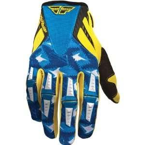 Fly Racing Kinetic Mens Dirt Bike Motorcycle Gloves   Yellow/Blue