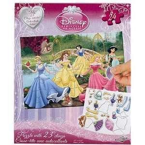 Disney Princess 24 Piece Puzzle with Clings Toys & Games