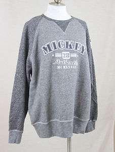 Disneyland/World Gray Mickey Mouse 28 Authentic Sweatshirt Pullover L