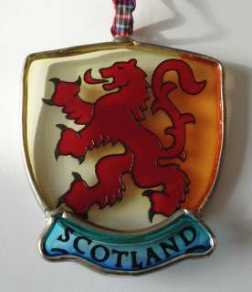 New Scottish Lion Stained Glass Christmas Tree Ornament