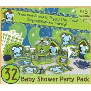 Boy Puppy Dog   32 Baby Shower Party Pack Toys & Games