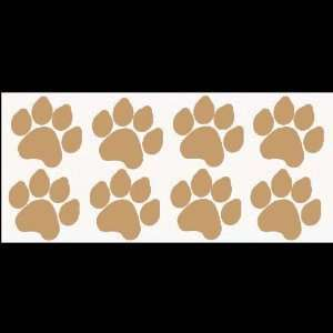 8 DOG PAW PRINTS Sand colored (2 X 3Each) Vinyl STICKERS