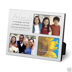 Inspirational Friends Mulit Photo Picture Frame NEW