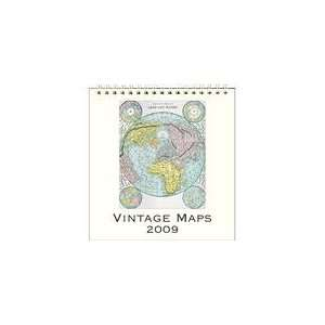 Vintage Maps 2009 Easel Desk Calendar Books