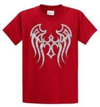 CELTIC CROSS WITH WINGS TATTOO T SHIRT DESIGN SHIRT
